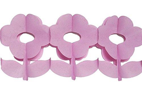 Disok papieren slinger, bloem, decoratieve slinger voor bruiloft, doop en communie, feesten en feesten