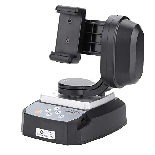 Remote Control Pan Tilt Motorized Auto Panoramic Head for Action Cameras Phone, 355° Infinite Tilt Rotation 7 Levels 500G Load High Frequency Remote Control,Professional Tilt Tripod Mount Adapter