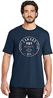 West Coast Camaro Authentic Motor City T-Shirt Compatible with Chevrolet for Chevy : Navy (Large)