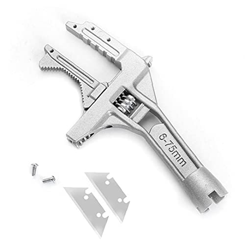 Llave ajustable de baño Ala de aleación de aluminio Anciana multifunción 6-75mm Herramientas de mano de la mandíbula ancha, fuerza óptima