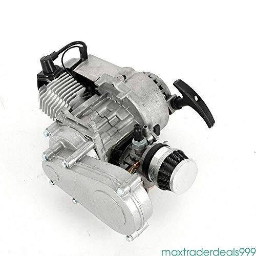 Savada 49CC 2-Takt Pocket Bike Motor Getriebe Vergaser Set mit Vergaser Getriebe für Dirt Bike Pocket Scooter Luftkühlung
