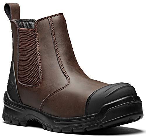 Dickies' Davis - Botas de seguridad para hombre, color marrón