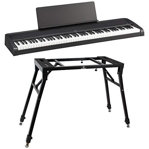 KORG B2 BK 電子ピアノ Dicon Audio KS-060 4本脚型 キーボードスタンド 2点セット