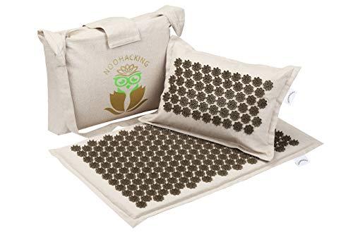 Noohacking® Kit avec tapis et oreiller d