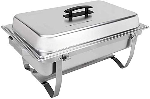 Sterno Foldable Frame Buffet Chafer Set, 8 quart, Silver