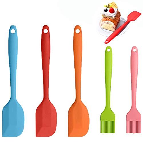 WELLXUNK® Espátulas Silicona Cocina, 3 piezas Espatula de Silicona + 2 piezas...