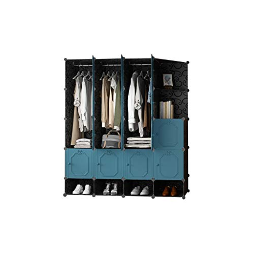 Check Out This QSJY Bedroom Armoires Assemble Plastic Cloth Wardrobe Cube Organiser 147×47×165cm (...