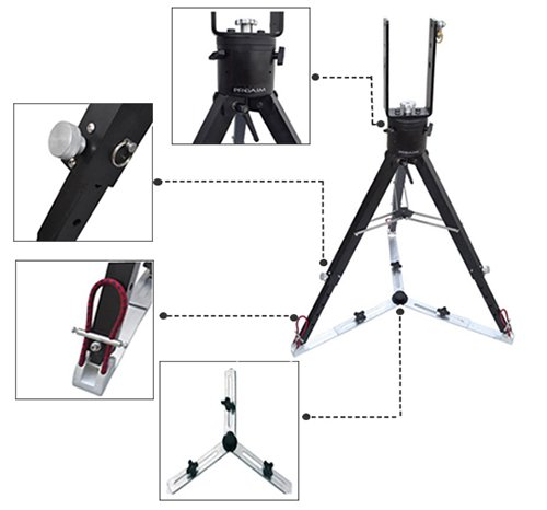 Proaim Kite-22 Superb Package: Proaim 22ft Octagonal Jib Crane With Heavy Duty Stand, Gold Pan-tilt Head & Hd Floor Dolly