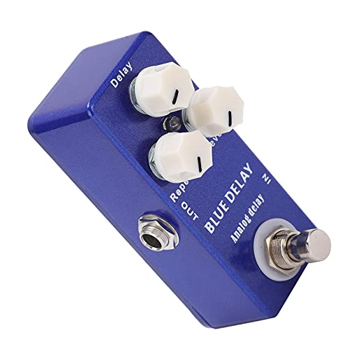 Pedal de efecto de guitarra de retardo, diseño True Bypass CCW completo que proporciona un pedal de efecto de guitarra de repetición para guitarra y bajo para todos los instrumentos