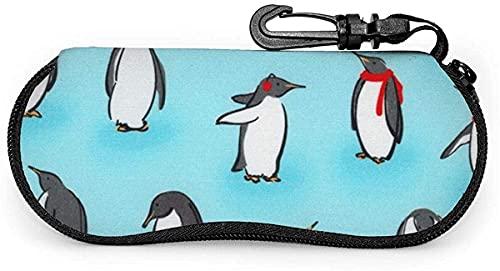 Estuche para gafas Animal Kinddom Penguins Ice-Animal Kinddom Penguins Ice Soft Estuche para gafas de sol Estuche para anteojos para mujeres y hombres, 17x8cm