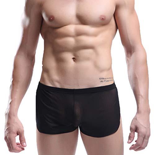 YULINGSTYLE Men's Stripes Transparent Lingerie Underwear Reizvolle lichtdurchCasual Unterwäsche-transparente Ineinander greifen-Bequeme Unterhose der Männer Men's Triangle Pants