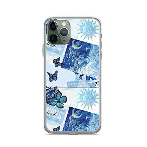 Blue Collage Aesthetic Cajas del Teléfono Cover iPhone Samsung Xiaomi Redmi Note 10 Pro/Note 9/Poco M3 Pro/Note 8/Poco X3 Pro Funda
