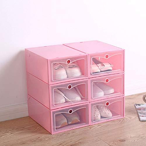 JUZIPI 3/6 Cajas para Zapatos Plástico, Cajas de Zapatos para Hombres y Mujeres, Organizador de Zapatos, Impermeable, Ahorra Espacio, Casa, Hogar, 42 * 34.5 * 2cm