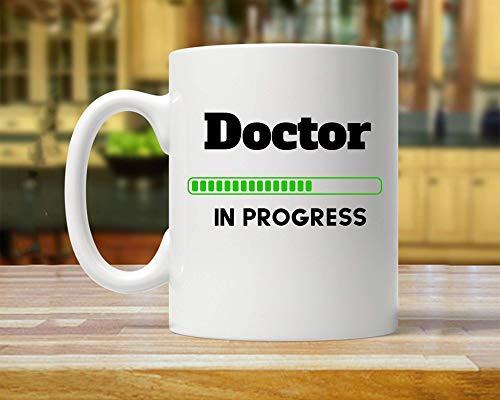 Regalo de la escuela de medicina, estudio del doctor, regalo de doctorado, taza de la escuela de medicina, regalo del futuro doctor, nuevo regalo del doctor, regalos del doctor, taza del doctor, regal