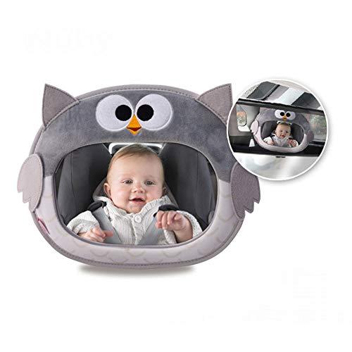 Asiento De Automóvil - Espejo Interior - Espejo De Bebé Infantil - Instalación Inversa De Canasta - Espejo Trasero - Espejo HD - Rotación De 360 ° (color : Owl)