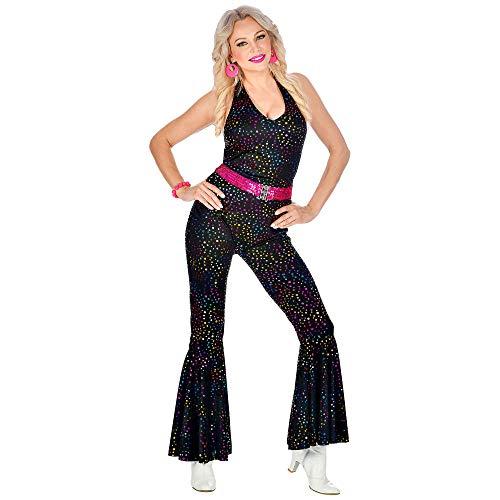 WIDMANN 11012869 70er Jahre Disco Style Outfit, Damen, Schwarz, M