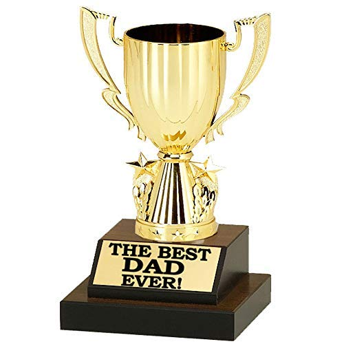 Best Dad Ever Trophy - Pre-Personalized Trophy - 8 1/2 inches Tall