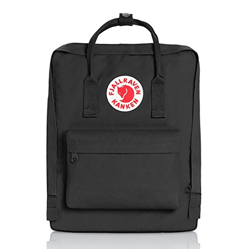 Fjällräven Kånken 23510-550 Unisex Waterproof Outdoor Hiking Backpack 38 x 27 x 13 cm, 16 Liter Black