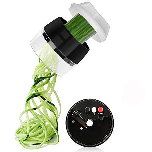 kitchen supreme spiral slicers Upgrade 4 in 1 Spiralizer Vegetable Slicer, Aieruma Handheld Veggie Spiral Cutter - Zoodles Spaghetti Veggie Noodles Maker, for Fruit Carrots Zucchini Cucumber Potatoes Radishes Squashes