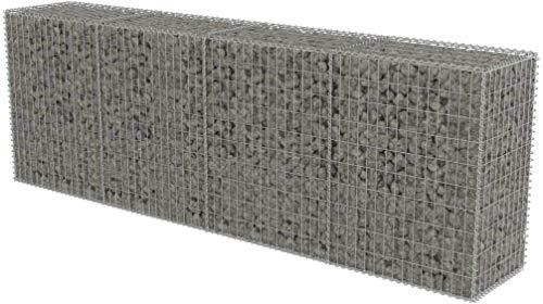 Ebtools - Jaula metálica de acero galvanizado, jaula de malla, cesta para piedras, para exteriores, 300 x 50 x 100 cm, hasta 1400 kg/m³