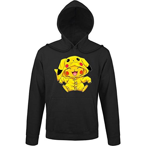 OKIWOKI trui met capuchon zwart Pokémon Parodieën Pikachu Cosplay Pikachu! Onverslaanbaar bij de wedstrijden van Cosplay. : (Parodie Pokémon)