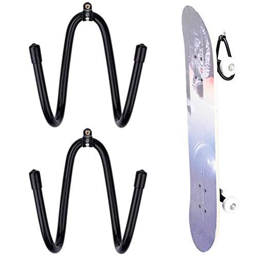Gazaar Soporte de rodillo de espuma ajustable para montaje en pared y soporte para esterilla de yoga y toallero, ideal para snowboard, tabla de surf, guitarra y exhibición de instrumentos