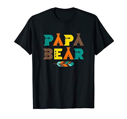 Papa Bär - Indianische Feder Tipi Zelt Vater Geschenk T-Shirt