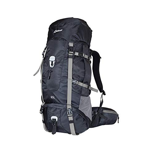 Upgraded Hiking Backpack 65L Internal Frame, High-Performance Backpacks Daypack Backpacking for Camping, Traveling, Trekking, and Outdoor Sports with Rain Cover(Gray)