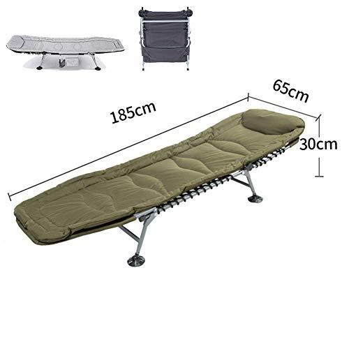 ZHUAN Klappbare Liegestühle Superweiche Camping-Liege, Sonnenliege 6-Bein-Sonnenliege Karpfenbett Gartenbett, Campingstuhl Kopf 5 Position E.