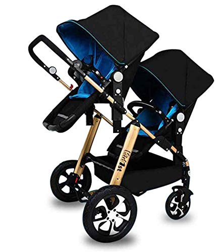 Best Review Of Sibling Baby Stroller, Babies and Toddlers, Side by Side Ultralight Foldable Child Sh...