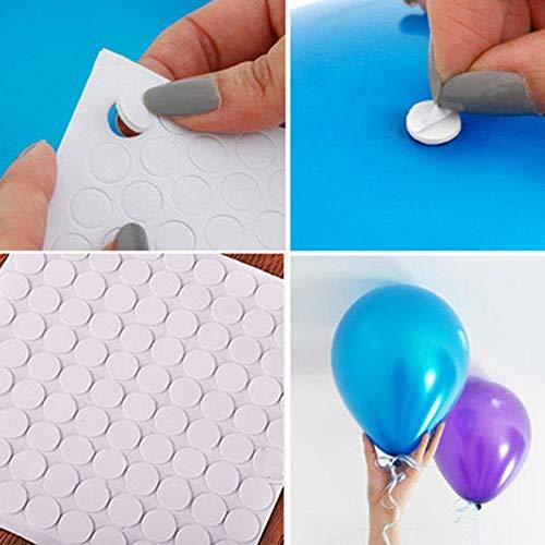 BLOUR 100 Punkte Ballonaufsatz Klebepunkt Befestigen Sie Luftballons an Decken- oder Wandaufklebern. Geburtstagsfeier-Hochzeitsbedarf