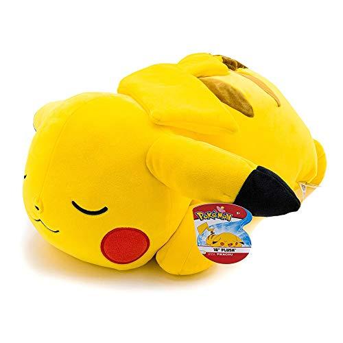 yvolve Pokemon Pikachu Plüsch, 45,7 cm, Pokemon Plüsch-Spielzeug - Bezauberndes Schlafpikachu - sehr weiches Plüschmaterial, perfekt zum Spielen, Kuscheln und Schlafen - Gotta Catch 'Em All, gelb