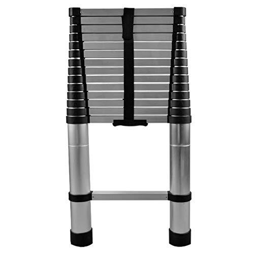 TFCFL 4.4M/3.2M Escalera Telescópica Plegable,Antideslizante Escaleras Plegables Aluminio para Mantenimiento de Viviendas,Trabajos de Poda de Arboles,150 kg de Capacidad de Carga