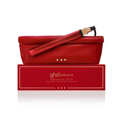ghd Platinum+ Deep Scarlet - Plancha de pelo profesional con tecnología predictiva ultra-zone, color rojo