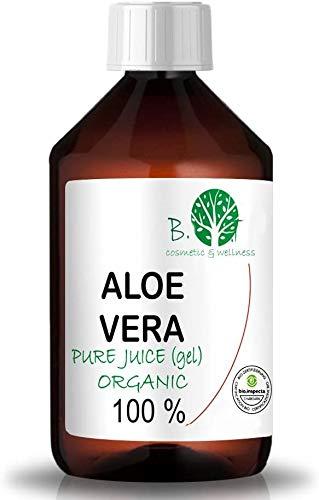 100% Pure Jus d'Aloe Vera Organique (liquide, sans épaississants) (100 ml)