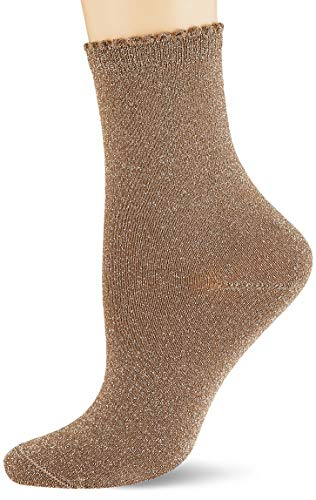 PIECES Damen PCSEBBY Glitter Long 1 Pack NOOS Socken, Natural, 39-41