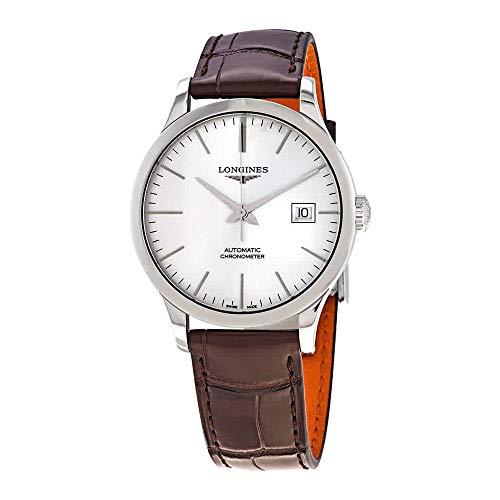 Longines Record Automatische Chronometer Zilver Wijzerplaat Herenhorloge L2.820.4.72.2