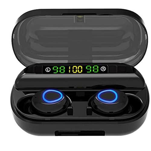 YepYes Auriculares Bluetooth Wireless Mini F10 TWS Auriculares Touch Control de Auriculares estéreo a Prueba de Agua en el oído Negro