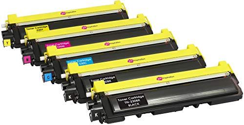 5er Set Premium Toner kompatibel für Brother TN230 DCP-9010CN HL-3040CN HL-3045CN HL-3070CW HL-3075CW MFC-9120CN MFC-9125CN MFC-9320CW MFC-9325CW | Schwarz 2.200 Seiten & Color je 1.400 Seiten