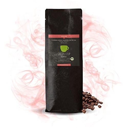 Green Cup Coffee Nossa Senhora - fair gehandelter Bio Arabica Espressobohnen - mittelstarker brasilianischer Fairtrade Gourmet Espresso aus ganzen Bohnen - 1kg gemahlen