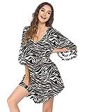Balancora Vestido de playa para mujer, túnica de verano, estilo bohemio, caftán, playa, tallas S-XXL, Pat9., Large