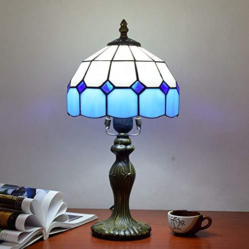 BBYT Lámpara de Techo Lámpara Simple Creative Mediterráneo Azul Alaid Sala de Estar Sala de Estar Estudio de la Sala de niños Lámpara de Mesa pequeña Diámetro 20cm