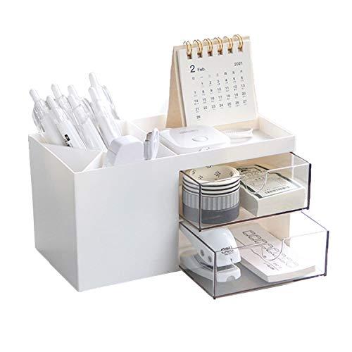 ペン立て 小物入れ ペンスタンド 化粧品 リモコン 文房具 アクセサリー 卓上小物収納 卓上収納ボックス 事務用品 メイクボックス 多機能 大容量 仕分け収納 卓上収納ラック デスクオーガナイザー プレゼント (B)