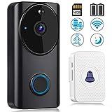 Vancle Wireless Video Doorbell with Chime, Smart Doorbell Camera Waterproof 1080P HD WiFi