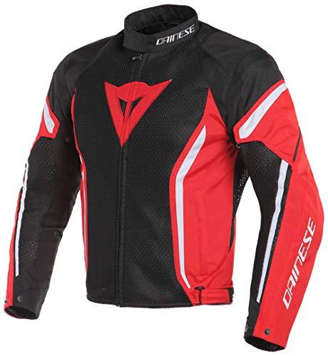 Dainese Air Crono 2 textil para moto chaqueta negro/rojo/blanco (UE nos 58/48)