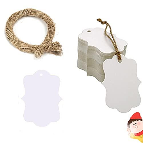 Etiquetas de papel kraft 100 etiquetas de regalo hechas a mano con...