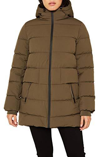 ESPRIT Damen 109Ee1G017 Jacke, Grün (Khaki Green 350), Large (Herstellergröße: L)