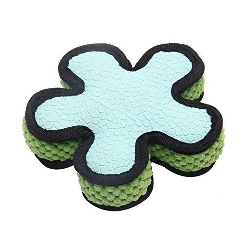 Yowablo Pet Dog Toy Lotion sternförmiges Spielzeug-Backenzähntraining zum Beißen von Tierbedarf (17 * 17 * 4.5cm,Hellblau)