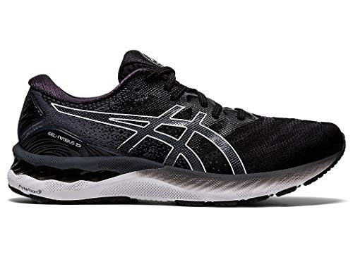 ASICS Men's Gel-Nimbus 23 Running Shoes, 7.5M, Black/White