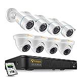 Anlapus FULL HD 1080P H.265+ Kit Vidéo  Surveillance - 8CH DVR avec 1To disque dur, 4pcs Caméra Surveillance  Extérieure Bullet et 4pcs Caméra Surveillance Extérieure en Dôme- App  gratuite
